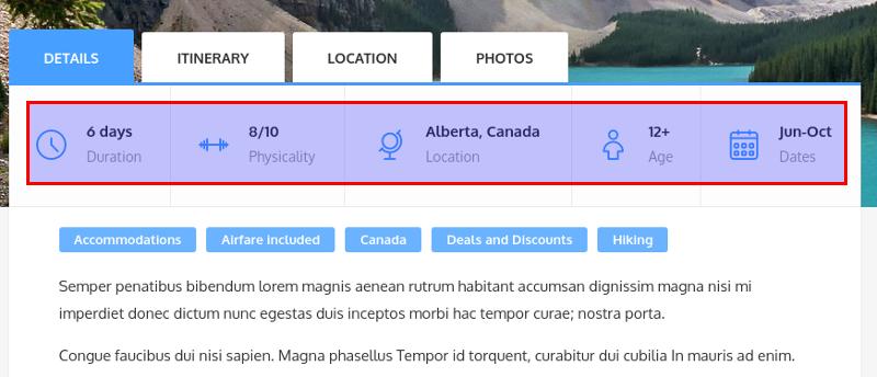 Documentation for Adventure Tours WordPress Theme Index